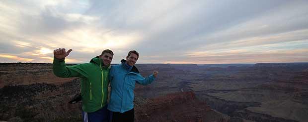 Grand Canyon sud en période hivernale.